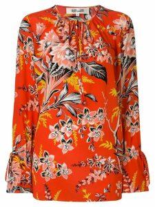 Dvf Diane Von Furstenberg tie neck floral printed blouse - Red