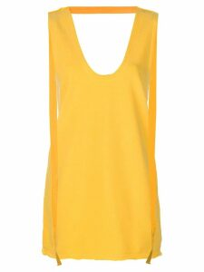 JW Anderson long jersey tank top - Yellow