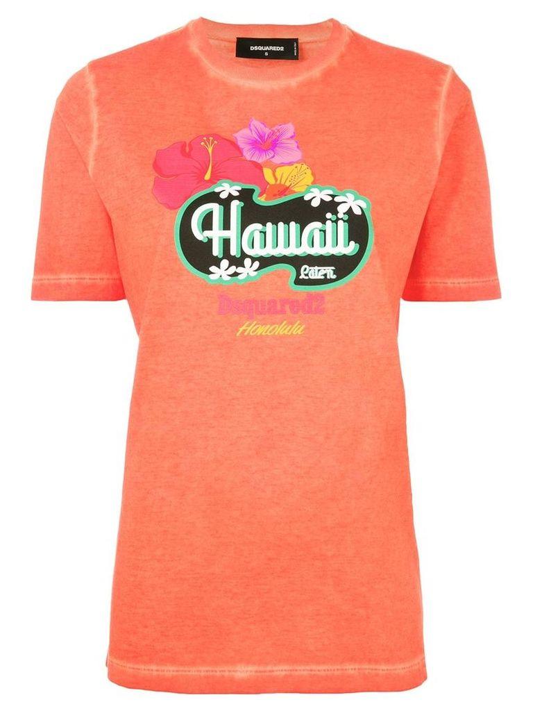 Dsquared2 Hawaii print T-shirt - Yellow