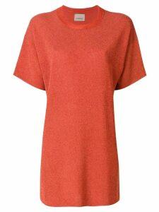 Laneus plain T-shirt dress - Yellow