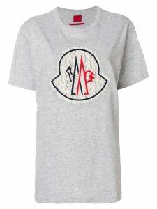 Moncler crew neck short-sleeve T-shirt - Grey
