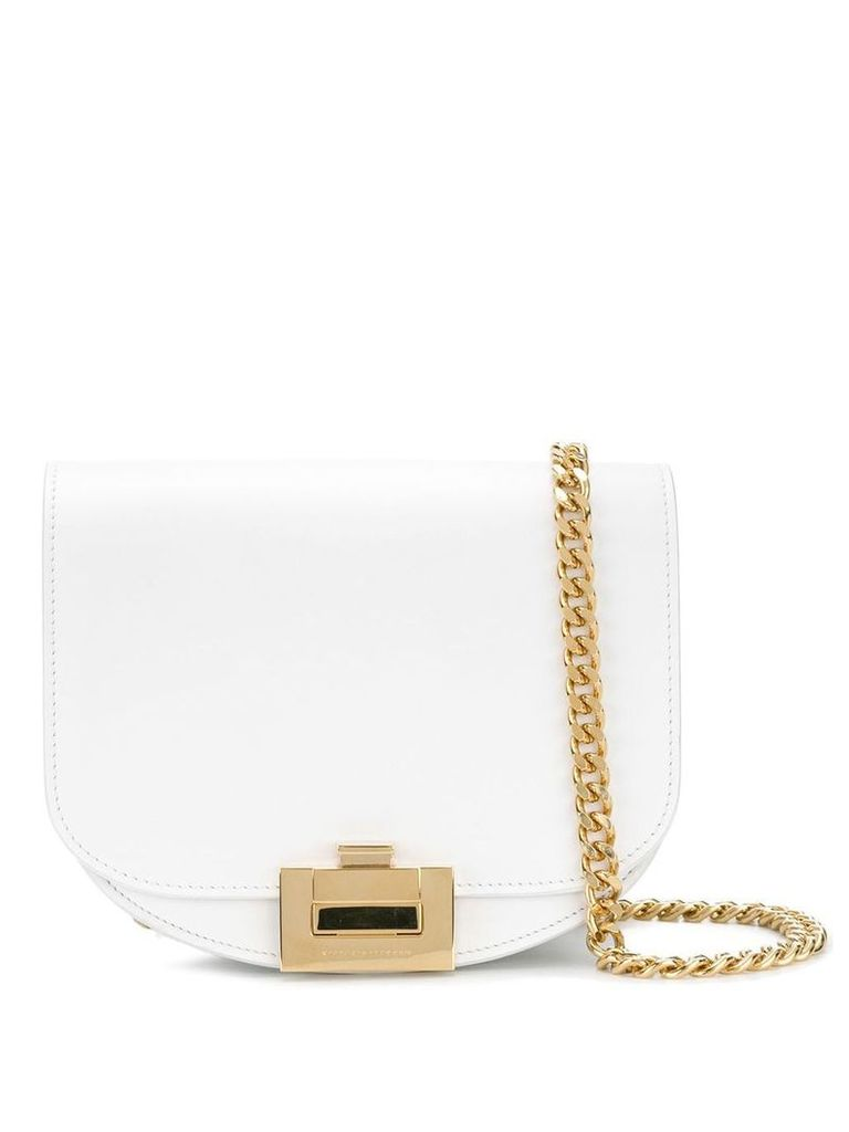 Victoria Beckham nano half moon box bag - White