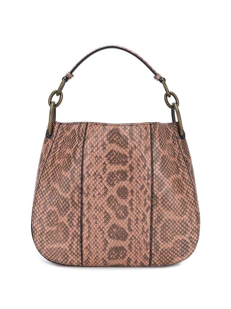 Bottega Veneta dahlia anaconda loop bag - Pink