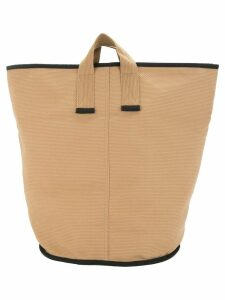 Cabas large Laundry tote - Brown