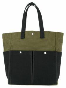 Cabas botanical tote bag - Green