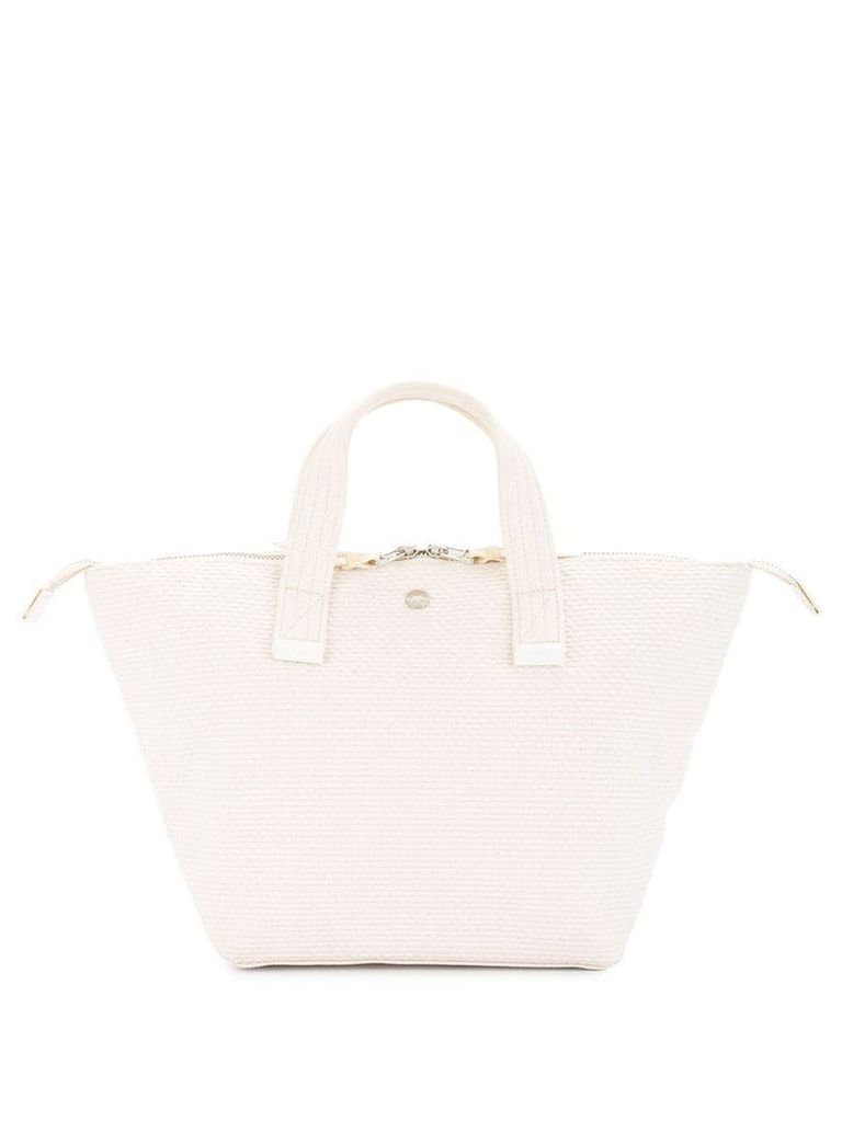 Cabas small Bowler bag - White
