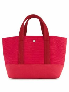 Cabas knitted style small tote bag - Red