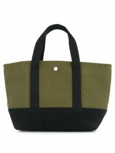 Cabas knit style small tote bag - Green