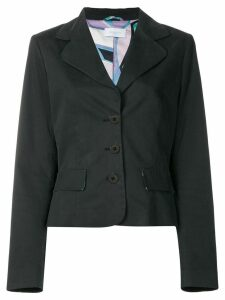 Emilio Pucci Pre-Owned flap pockets fitted blazer - Black