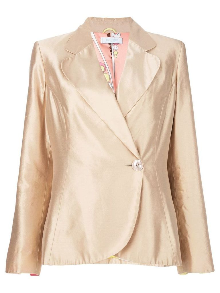 Emilio Pucci Vintage metallic fitted blazer