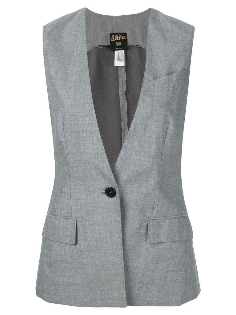 Jean Paul Gaultier Vintage deep neck waistcoat - Grey