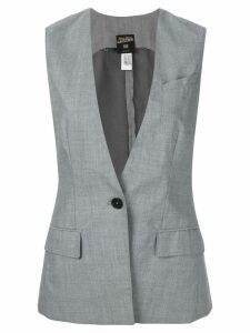 Jean Paul Gaultier Pre-Owned deep neck waistcoat - Grey