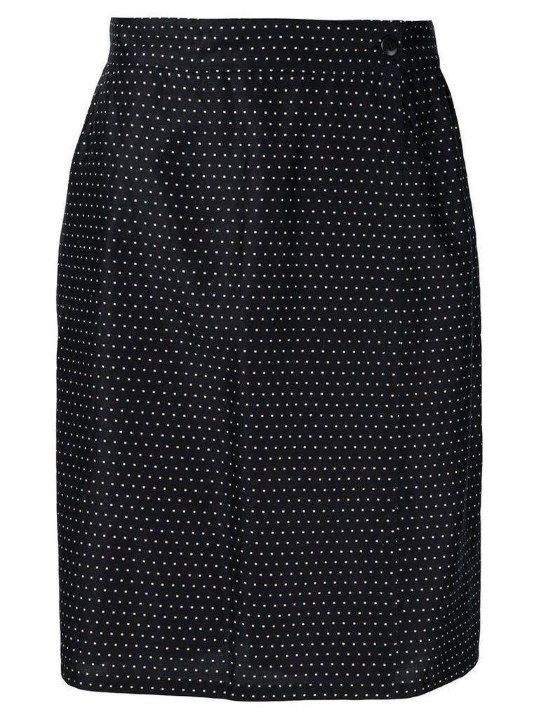 Versace Vintage high rise dotted skirt - Black