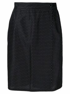 Versace Pre-Owned high rise dotted skirt - Black