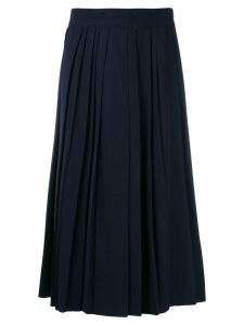 Moschino Vintage pleated details midi skirt - Blue
