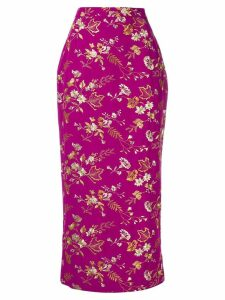 Dolce & Gabbana Pre-Owned floral embroidery midi skirt - Pink