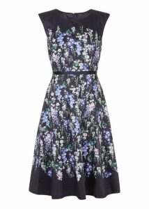 Aubrie Dress Navy Multi