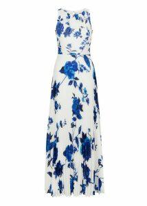 Talia Maxi Dress Ivory Blue 8