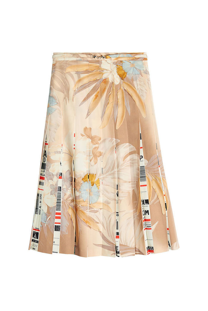 Maison Margiela Printed Wool Skirt