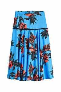 Roksanda Oni Printed Silk Skirt
