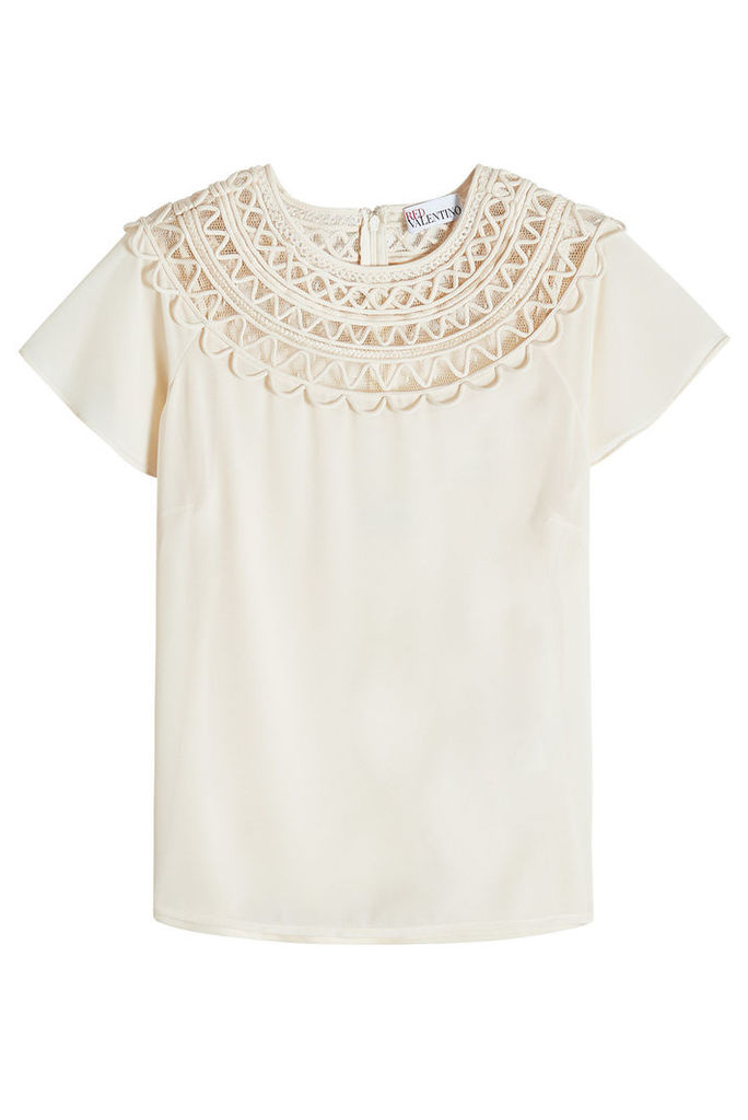 RED Valentino Top with Cut-Out Detail