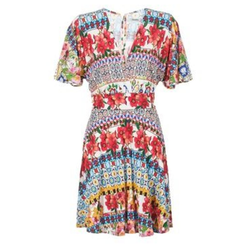 Desigual  JEAPRO  women's Dress in Multicolour