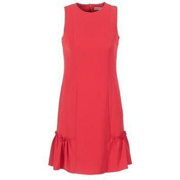 MICHAEL Michael Kors  SLEEVESLESS RUFFLE DRS  women's Dress in Red
