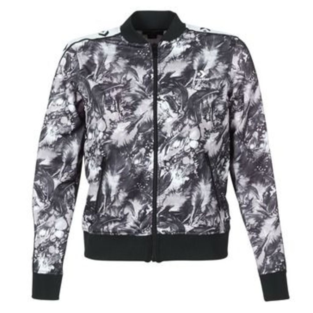 Converse  CONVERSE STAR CHEVRON FEATHER PRINT TRACK JACKET  women's Tracksuit jacket in Black
