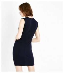 AX Paris Navy V Neck Bodycon Dress New Look