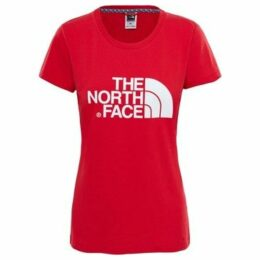 The North Face  W S/S EASY TEE - RED  women's T shirt in Red