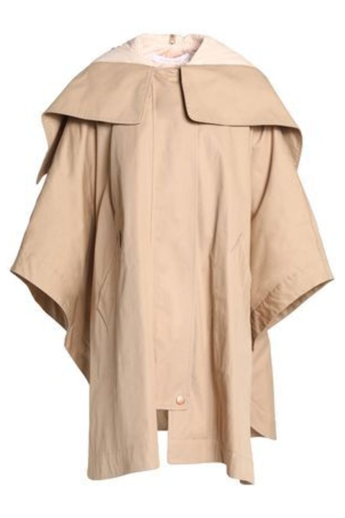 See By Chloé Woman Cotton-gabarine Hooded Jacket Beige Size 38
