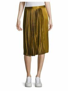 Gamil Silk Pleated Skirt