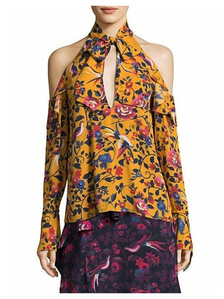 Adrienne Kimono Floral Silk Top