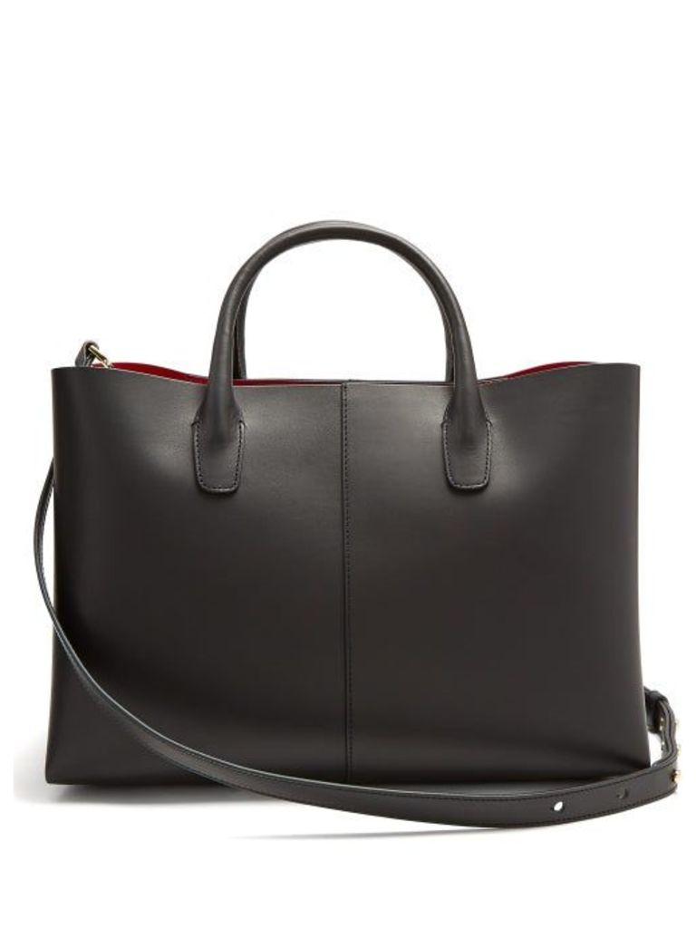 Mansur Gavriel - Folded Red Lined Leather Bag - Womens - Black