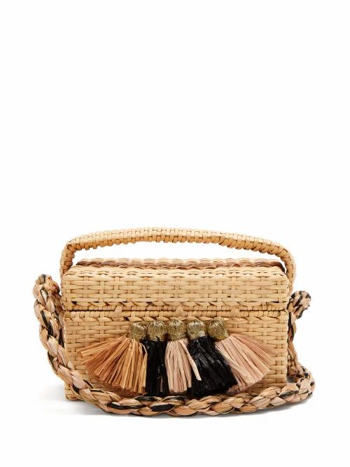 Sanayi 313 - Carolsello Tassel Trimmed Straw Bag - Womens - Beige Multi