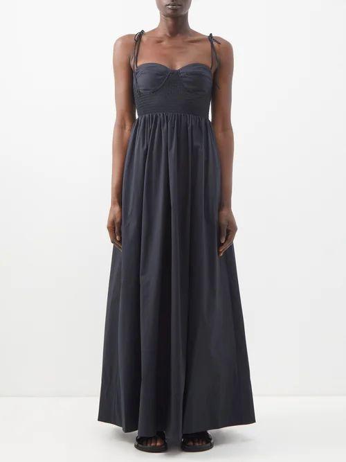 Mansur Gavriel - Circle Gingham Cotton Canvas Cross Body Bag - Womens - Red Multi