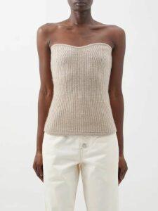 Biyan - River Floral Jacquard Organza Coat - Womens - Blue Multi