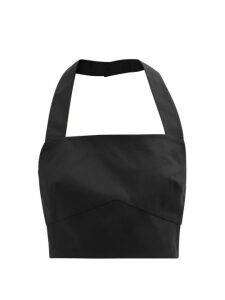 Balenciaga - Round Neck Draped Silk Crepe Dress - Womens - Light Yellow