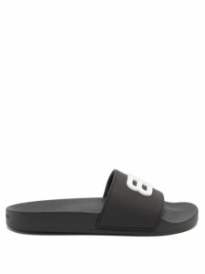 Fendi - Striped Off The Shoulder Silk Blend Dress - Womens - Brown Stripe