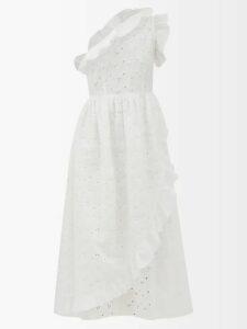 Thierry Colson - Sultane Silk Blend Wrap Dress - Womens - Purple Multi