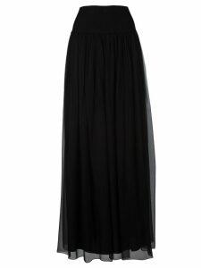 Alberta Ferretti Ribbed Lace Skirt