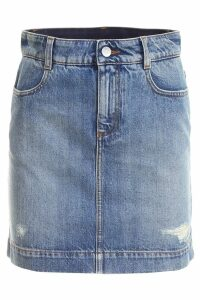 Stella McCartney Distressed Denim Skirt
