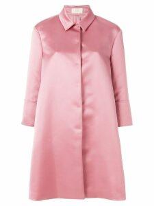 Sara Battaglia oversized coat - Pink
