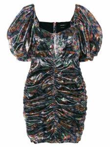 Isabel Marant floral-print ruched mini dress - Multicolour