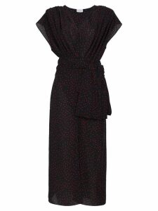 Magda Butrym Diablo gathered silk midi dress - Black