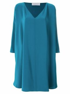 Gianluca Capannolo oversized side ruffle dress - Blue