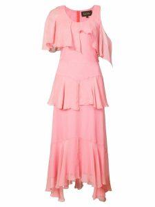 Nicole Miller asymmetric ruffle dress - Pink
