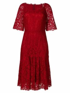 Dolce & Gabbana lace midi dress - Red