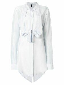 Unravel Project draped shirt dress - Blue