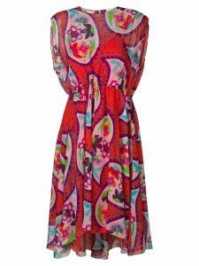 Delpozo paisley print casual dress - Red